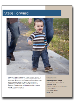 Image of the Steps Forward report cover